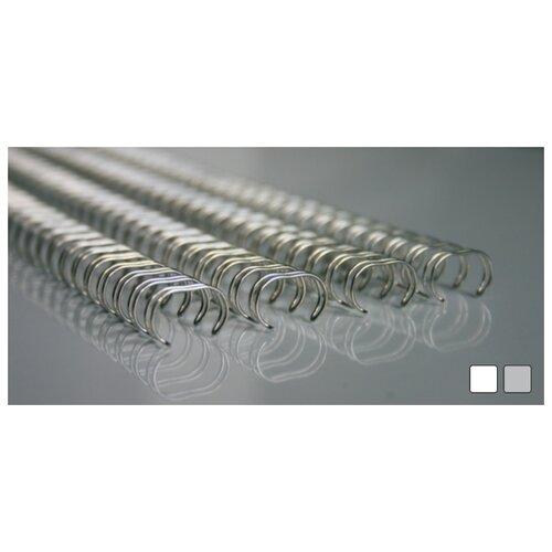 Пружины для переплета, металлические, 34 кольца, шаг 3:1, 14,3 мм, белые, 100 штук