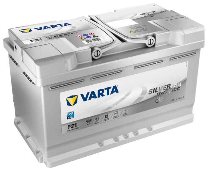Аккумулятор VARTA Silver Dynamic AGM F21 (580 901 080) — купить по выгодной цене на Яндекс.Маркете