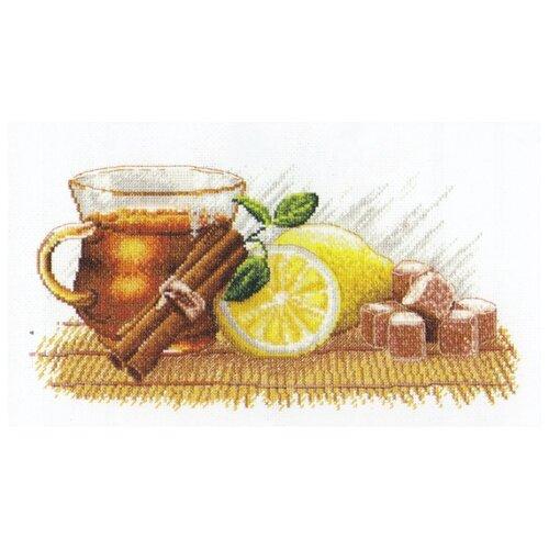 Купить Овен Цветной Вышивка крестом Зимний чай 30 х 15 см (900), Наборы для вышивания