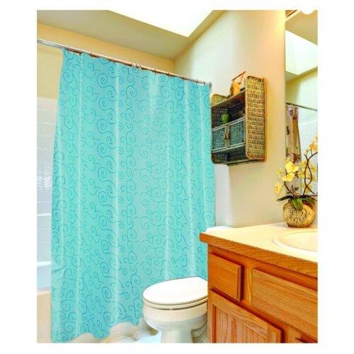 Штора для ванной Fora Интуиция 180х180 голубой