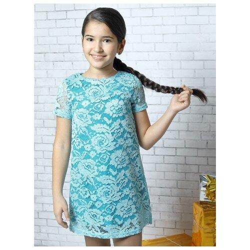 Купить Платье Nota Bene размер 128, бирюзовый, Платья и сарафаны