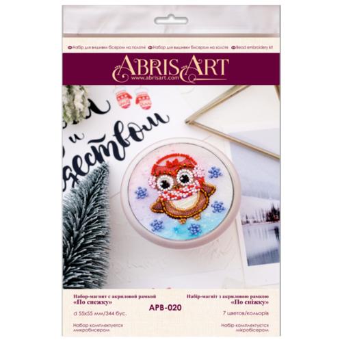 Купить ABRIS ART Набор-магнит для вышивания бисером По снежку 5.5 x 5.5 см (APB-020), Наборы для вышивания