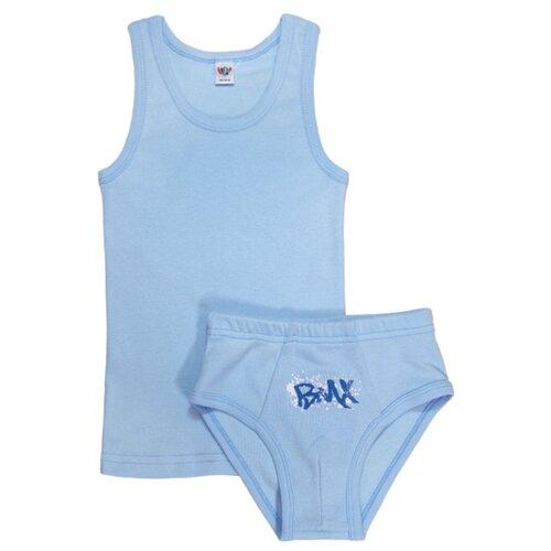 джемпер для мальчика let s go монстры цвет ярко голубой 6257 размер 98 Комплект нижнего белья Let's Go размер 98-104, голубой