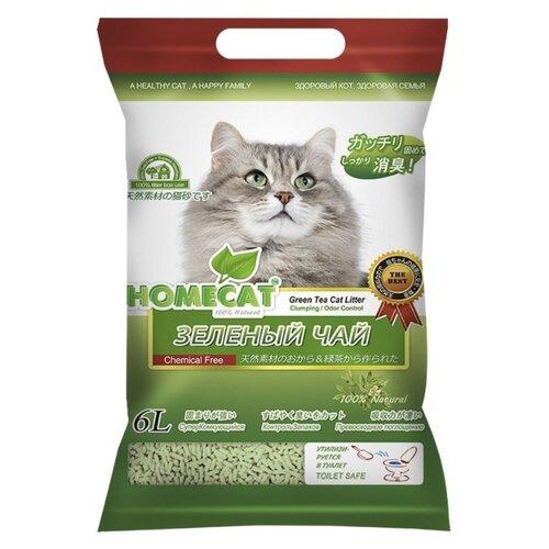 Фото - Комкующийся наполнитель Homecat Эколайн Зеленый чай 6 л комкующийся наполнитель n1 naturel зеленый чай 17 5 л