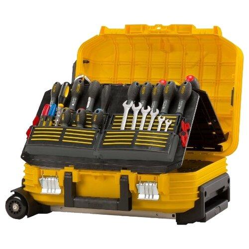 Ящик-тележка STANLEY 1-72-383 54x43.5x40 см желтый ящик с органайзером stanley mega line cantilever 1 92 911 49 5x26 1x26 5 см черный желтый