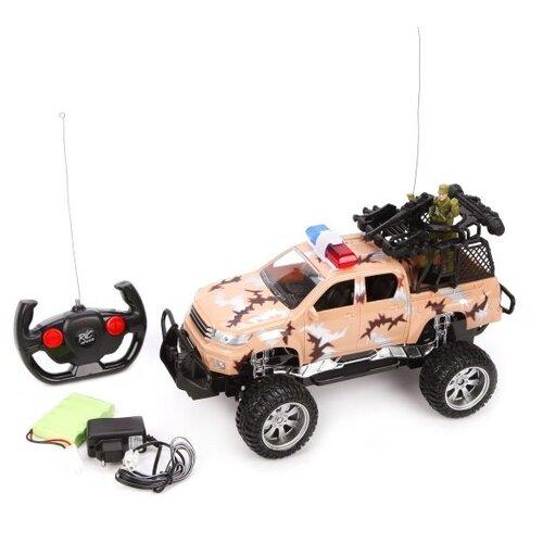 Купить Машина р/у Наша Игрушка Внедорожник, 4 канала, пулеметная установка, фигурка, свет, звук, аккумулятор, Наша игрушка, Радиоуправляемые игрушки