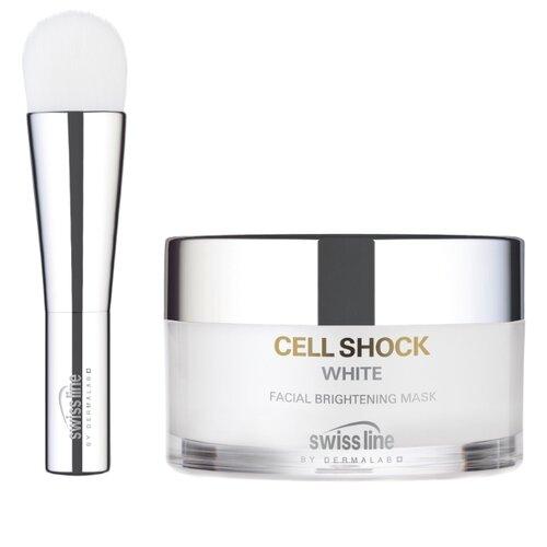 Swiss Line маска Cell Shock White осветляющая освежающая, 50 мл swissline cell shock white hd осветляющая освежающая маска cell shock white hd осветляющая освежающая маска
