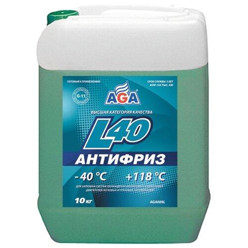 Антифриз AGA Тосол L40 10 кг жидкость охлаждающая тосол 45 felix 5 кг