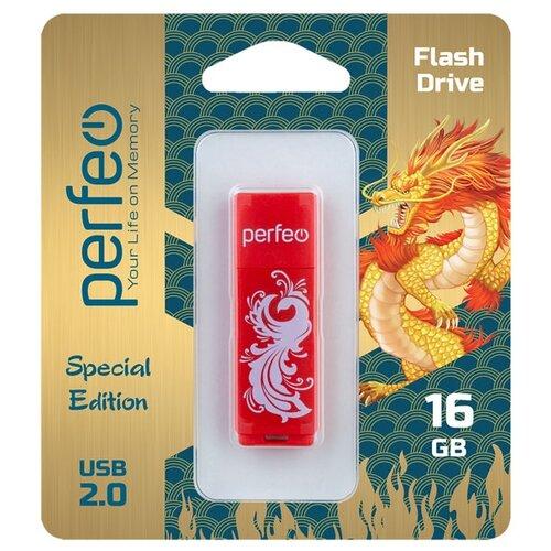 Фото - Флеш Perfeo USB 16GB C04 Red Phoenix флешка perfeo c04 16gb black
