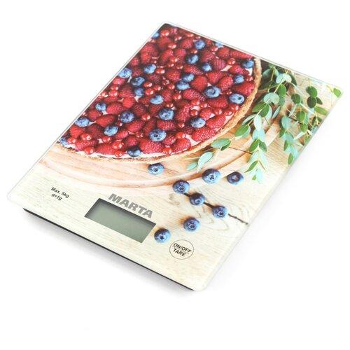 Кухонные весы MARTA MT-1634 ягодный пирог кухонные весы marta mt 1640 олива