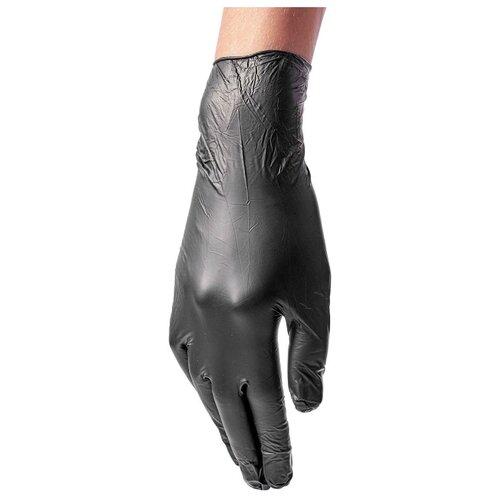 Перчатки Benovy виниловые одноразовые, 50 пар, размер L, цвет черный