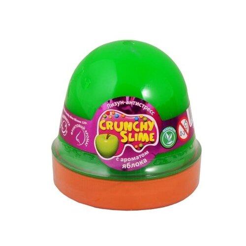 Лизун Mr.Boo! Crunchy slime с ароматом яблока зеленый