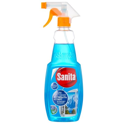 Фото - Жидкость Sanita для стекол с формулой Антипыль + спирт, 500 мл средство для стекол sanita со спиртом 1968 500 мл