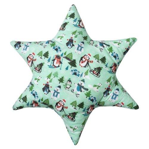Подушка декоративная Традиция Пингвины, 50 х 50 см зеленый подушка декоративная laroche 50 х 50 см
