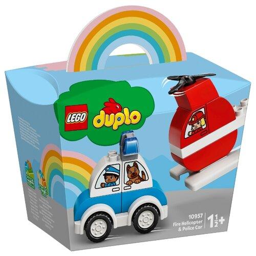 Купить Конструктор LEGO DUPLO 10957 Мой первый пожарный вертолет и полицейский автомобиль, Конструкторы