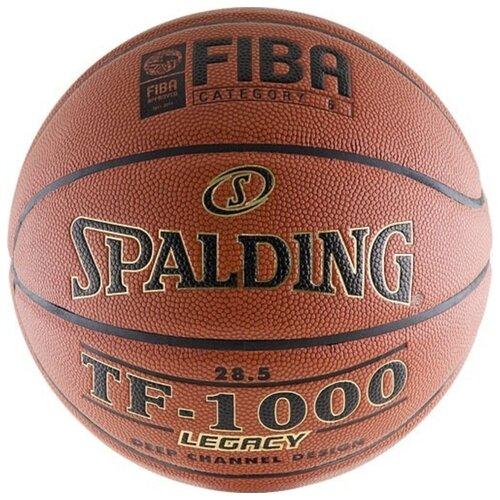 Баскетбольный мяч Spalding TF-1000 Legacy, р. 6 коричневый/черный/золотистый