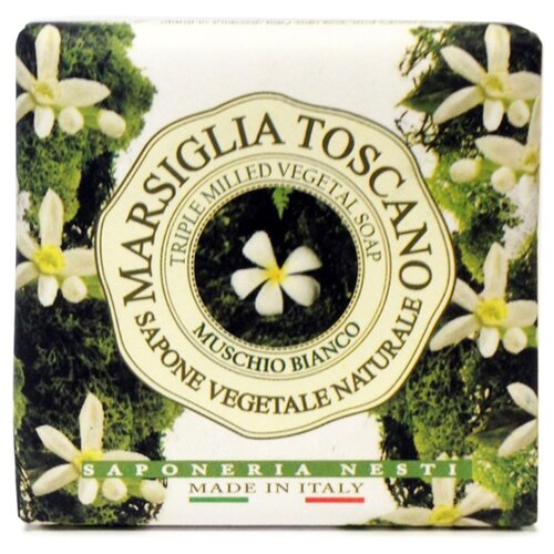 Мыло кусковое Nesti Dante Marsiglia Toscano Muschio Bianco, 200 г nesti dante мыло vero marsiglia мед 150 г