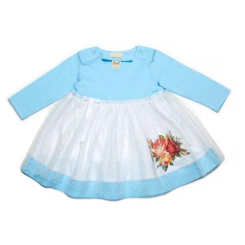 Платье ЁМАЁ размер 86, голубой ёмаё без ножек изюминка фиолетовые