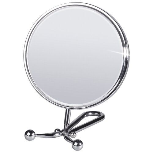 Зеркало косметическое настольное Tatkraft Felicia (11304) хром зеркало косметическое swensa 20 см настольное хром l01 8