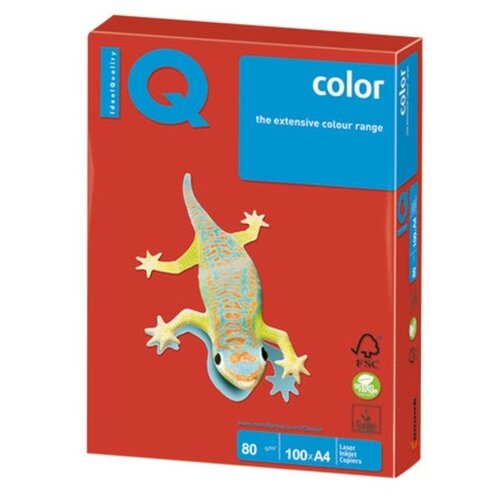 Бумага IQ Color А4 80 г/м² 100 лист. кораллово-красный CO44 1 шт. бумага iq color а4 160 г м² 250 лист кораллово красный co44 1 шт