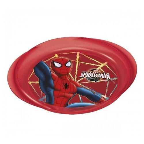 Фото - Stor Тарелка с ручками Человек-паук Красная паутина 23,1х20,3 см красный stor тарелка леди баг 23 см красный