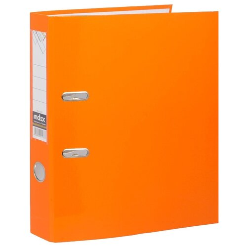 Купить Index Папка-регистратор COLOURPLAY А4, 80 мм, ламинированная, неоновая оранжевая, Файлы и папки