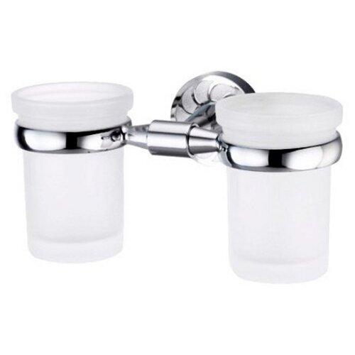Стакан для зубных щеток WasserKRAFT Isen K-4028D серебристый/белый стакан для зубных щеток wasserkraft isen k 4028d серебристый белый