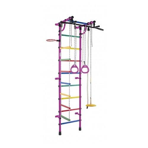 Купить Шведская стенка Формула здоровья Гамма фиолетовый/радуга, Игровые и спортивные комплексы и горки