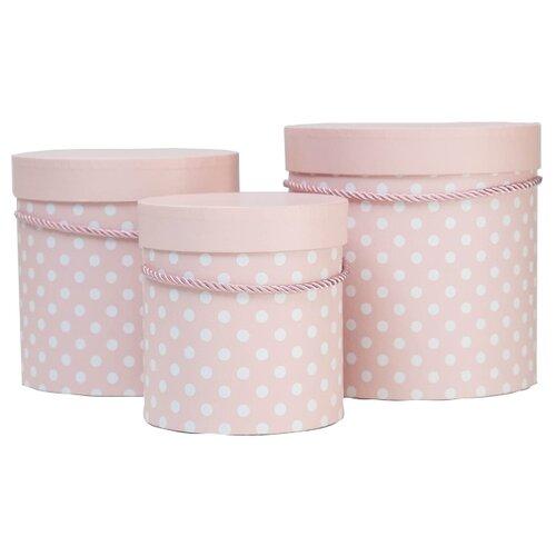 Фото - Набор подарочных коробок Shantou Jin Wei Ming Arts & Crafts Product Горох, 3 шт розовый набор подарочных коробок tai an baoli paper product co ltd фауна 17 шт желтый