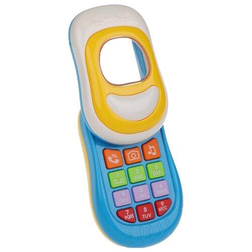 Купить Развивающая игрушка Наша игрушка Мобильный телефончик 100848222 голубой, Развивающие игрушки