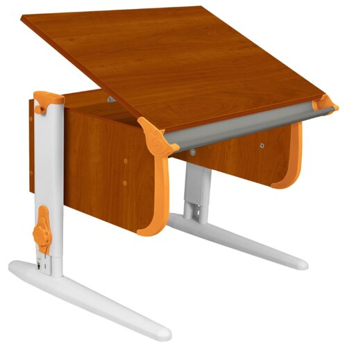 Купить Стол ДЭМИ СУТ-24 75x55 см яблоня/оранжевый/белый, Парты и столы