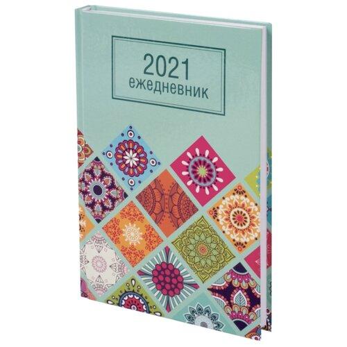 Купить Ежедневник STAFF Орнамент датированный на 2021 год, А5, 160 листов, бирюзовый, Ежедневники, записные книжки