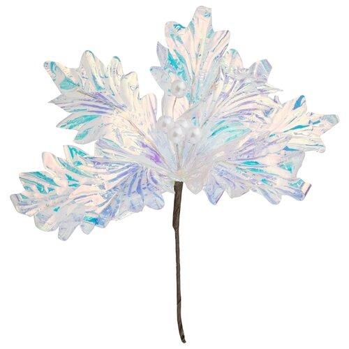 Цветок искусственный пуансетия длина 26 см Lefard (535-323)