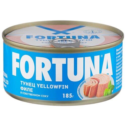 Фото - Fortuna Тунец yellowfin филе в собственном соку, 185 г ocean star тунец филе в собственном соку 185 г