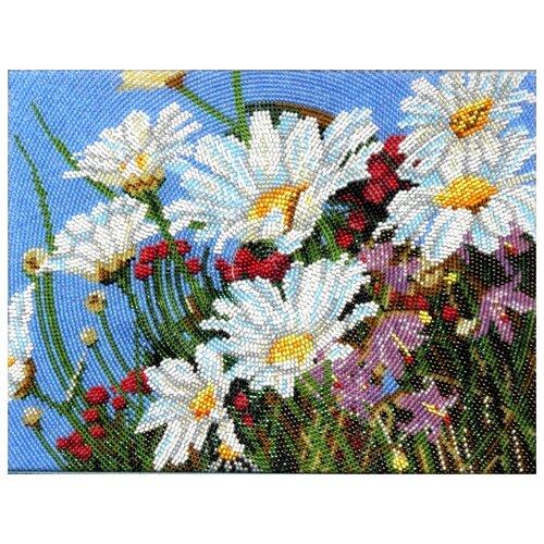 Купить Вышиваем бисером Набор для вышивания бисером Весенние Ромашки 19 х 26 см (В-62), Наборы для вышивания