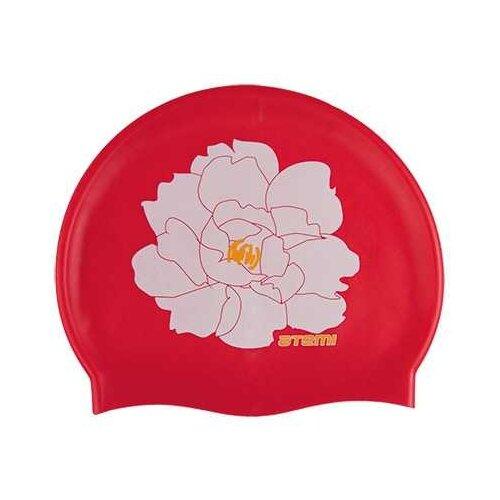 Шапочка для плавания ATEMI PSC409, красный