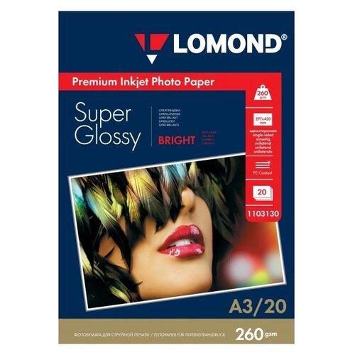 Фото - Бумага A3 20 шт. Lomond Premium Photo Paper 1103130 ярко-белый 1 шт. бумага a3 500 шт ballet classic белый 1 шт