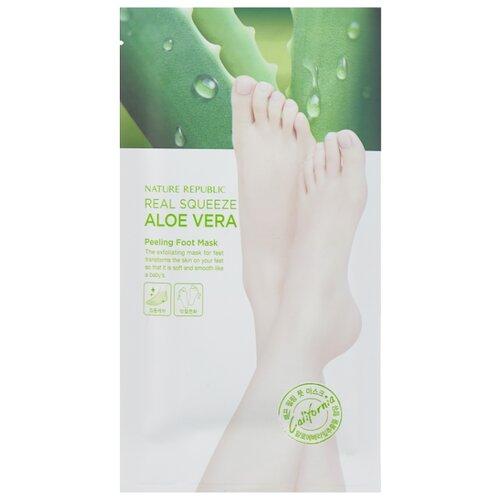 NATURE REPUBLIC Пилинг-маска для ног Real squeeze aloe vera 50 г