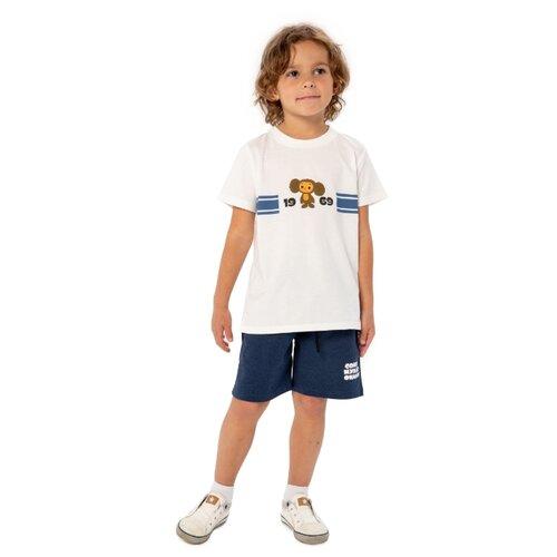 Купить Пижама Frutto Rosso размер 122, молочный/темно-синий, Домашняя одежда