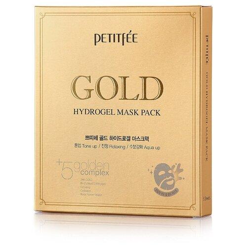 Petitfee Гидрогелевая маска для лица с золотом, 32 г, 5 шт. недорого