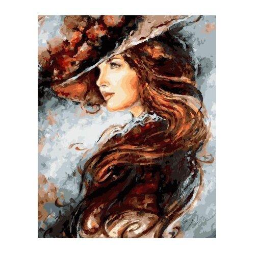 """ВанГогВоМне Картина по номерам """"Леди в шляпке"""", 40х50 см (ZX 22157)"""
