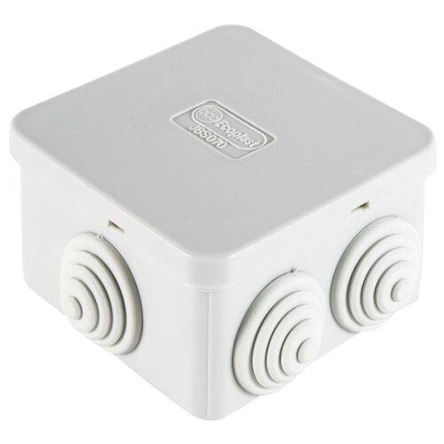 Распределительная коробка Ecoplast JBS070 (44056) наружный монтаж 70x70 мм RAL 7035