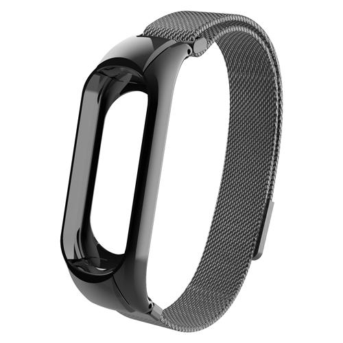 Купить CARCAM Ремешок металлический Milanese для Xiaomi Mi Band 3 черный