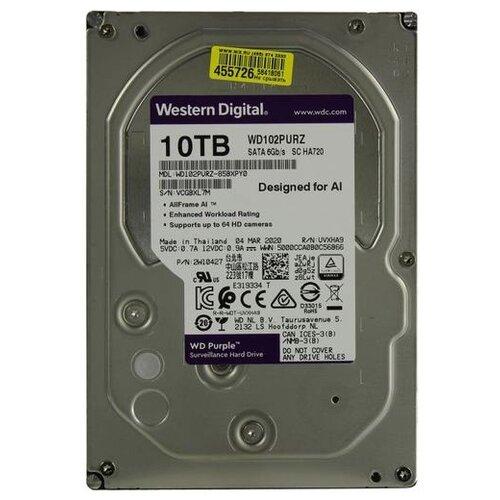 Жесткий диск Western Digital WD102PURZ жесткий диск western digital wd102purz
