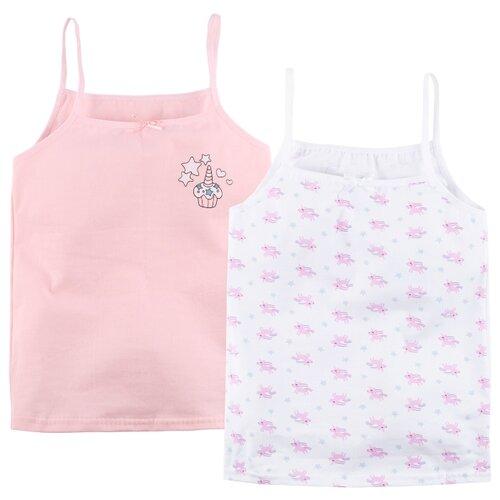 Купить Майка Bossa Nova 2 шт., размер 36, розовый/белый, Белье и купальники