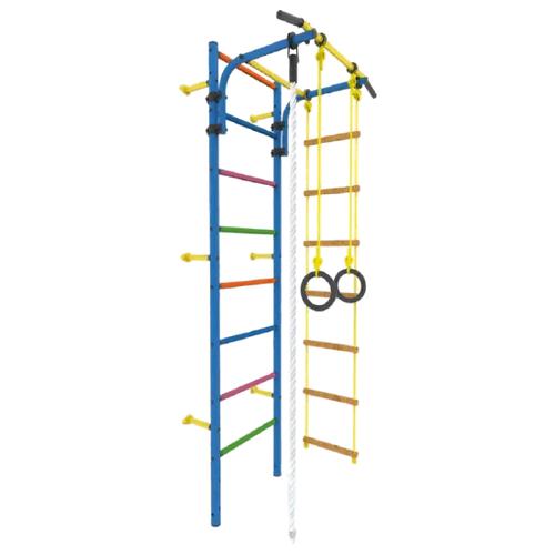 Купить Шведская стенка ROKIDS Атлет-2ц синий/цветной, Игровые и спортивные комплексы и горки