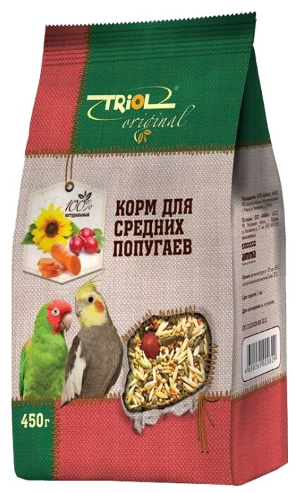 Triol корм Original для средних попугаев
