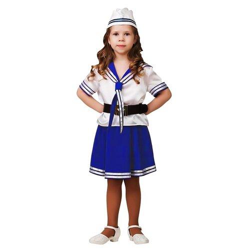 Купить Костюм Батик Морячка (5704), белый/синий, размер 140, Карнавальные костюмы