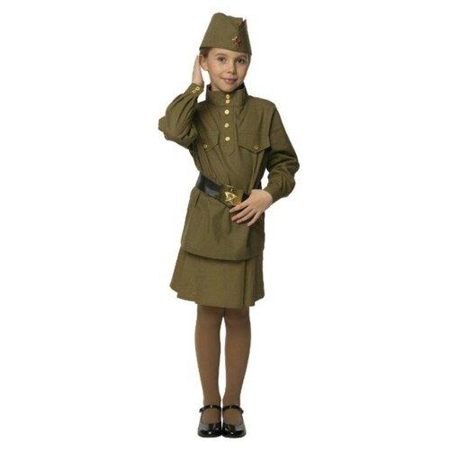 Купить Костюм Вестифика Гимнастерка (108 003), зеленый, размер 92-98, Карнавальные костюмы