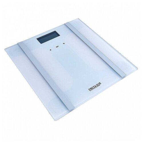 Весы SMART 180 кг 28×28 см электронные напольные DELTA LUX DE-4600 белые